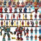 Marvel Iron Man Minifigures Super Hero Tony Stark Building Toy Fit Lego Avengers Heroes