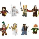 2018 Lord of the Rings Gandalf Baggins Tranduil Frodo Galadriel Mayor Minifigures Lego Fit Toy