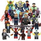 2018 Marvel Super Hero Minfigures Thanos Big Hulk Thor Spiderman Lego Avengers Figures Compatible