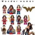 Custom Wonder Woman Minifigures Lego DC Super Girls Compatible Toy
