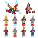 Marvel Ironman Minifigures Lego Super Hero Ironman Suit Compatible Toy