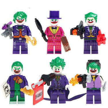 Custom Tuxedo Clown Joker Minifigures Lego Batman Movie Sets Compatible Building Toy