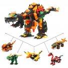 Jurassic Dinasour Transformer 5IN1 Lego Jurassic World Dinosaur Building Toy