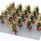 Atlantis Egyptian Army Soldiers Minifigures Lego Medieval Knights Comaptible Toy