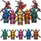 Custom Deadpool Minifigures Lego Marvel Super Hero Compatible