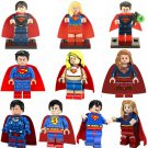 Superman Super Woman Super Girls Minifigures Lego DC Superhero Compatible