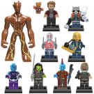 Guardians of the Galaxy 2 Minifigures Big Groot Yondu Lego Marvel Universe Fit Toy