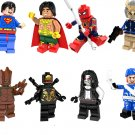 Super Hero Ebony Maw Groot Spider Man Minifigures Lego Compaible Bricks Toy