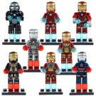 Custom Iron Man Minifigure Marvel Lego Super Hero Compatible Toys