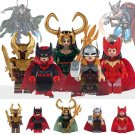 Marvel Super Hero Lady Loki Thor Scarlet Witch Heimdallr Minifigure Lego Compatible
