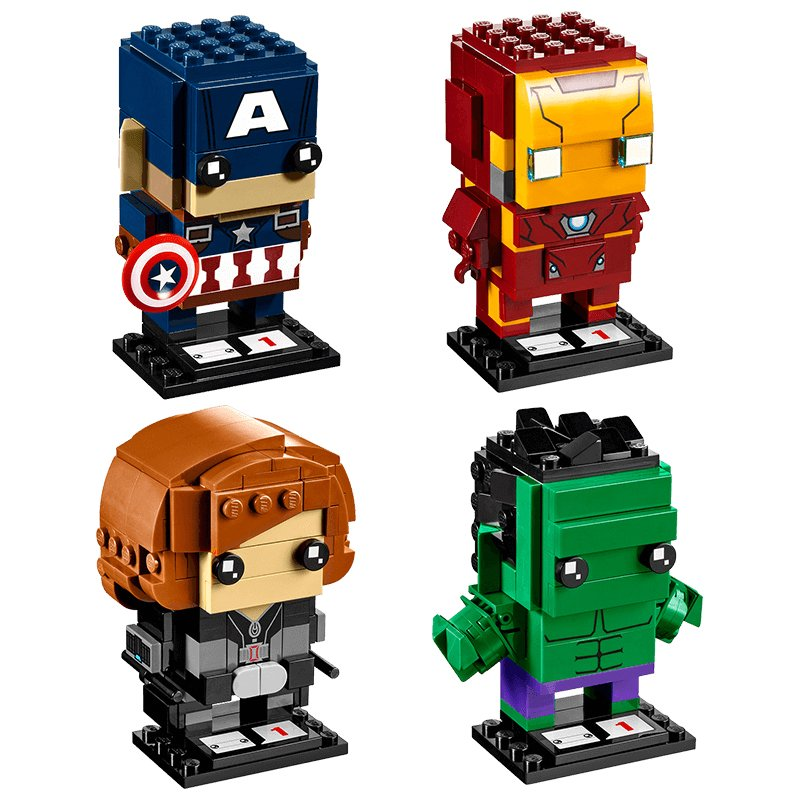 Custom Ironman Hulk Captain American Black Widow Lego Brickheadz Compatible Toys