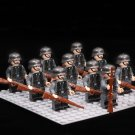 10pcs WW2 German Army Soldiers with Rifle Compatible Lego German Soldiers