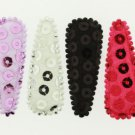 Sequin Clip Covers for 50mm ROUND Snap Clips-10 pieces