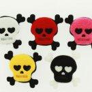Padded Fleece Skull and Cross Bones - 10 pieces