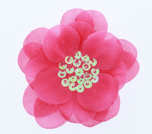 "U-PICK 3 1/2"" Flower with Sequin Center - 6 pieces"