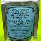 Organic Blue Green Spirulina & Broken Cell Wall Chlorella(50 Capsules-575 mg ea)