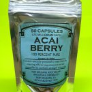 Acai Berry 100% Pure *50 CAPSULES* Detox Fat Burner Dietary Supplement Capsules