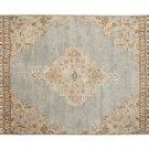 POTTERY BARN Bryson Blue 5X8 Floral Style Handmade Wool Rug & Carpet
