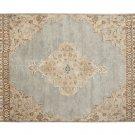 POTTERY BARN Bryson Blue 8X10 Floral Style Handmade Wool Rug & Carpet