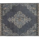 POTTERY BARN Bryson Indigo 5X8 Persian Style Handmade Wool Rug & Carpet