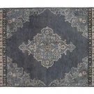 POTTERY BARN Bryson Indigo 8X10 Persian Style Handmade Wool Rug & Carpet
