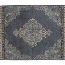 POTTERY BARN Bryson Indigo 9X12 Persian Style Handmade Wool Rug & Carpet