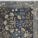 New PB Adeline Blue 9X12 Floral Style Handmade Wool Rug & Carpet