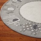 New PB Elephant Gray 5X5 Kids Style Handmade Wool Rug & Carpet