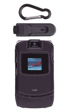 Motorola RAZR V3/V3i Black Fitted Case