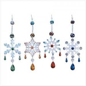 jeweled snowflake ornaments