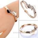 Fashion Women Gold S-Shape Crystal Rhinestone Charm Bangle Bracelet !!!