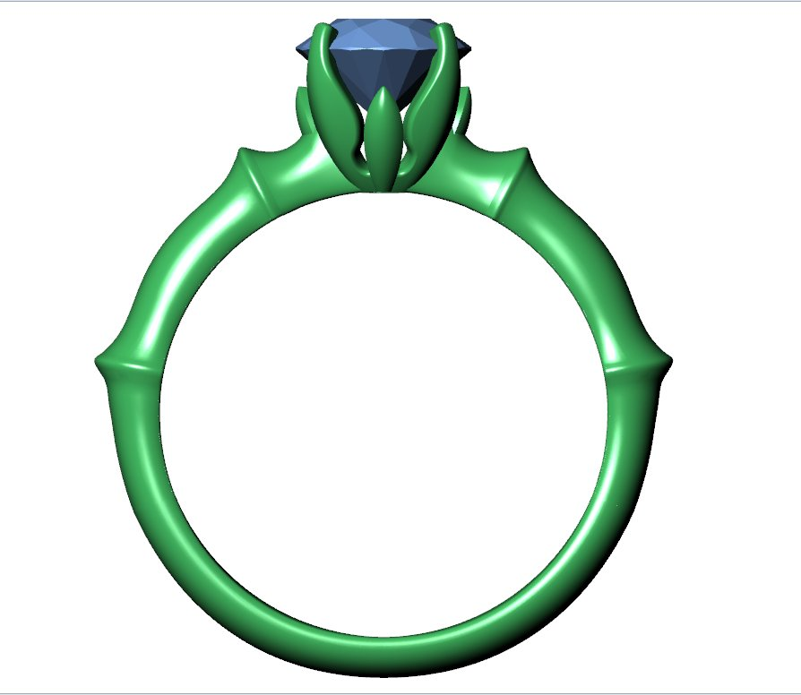 CA2 - Jewelry Engagement Ring 3D Design Downloadable File For 3D Printing