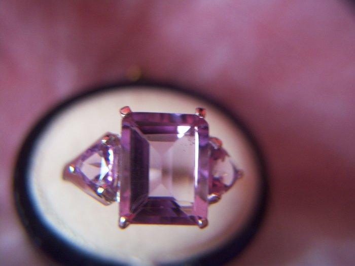 4 ctw. Amethyst & 9K White Gold Ring