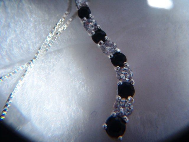 Sterling Silver Sapphire and CZ Journey Pendant