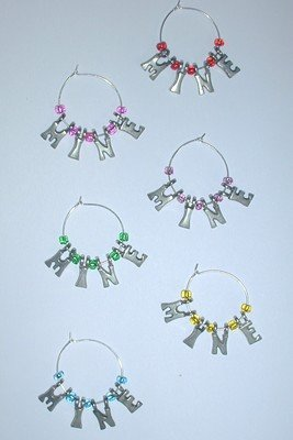 MINE Wine charms Set of 6 My Wine Markers Beverage