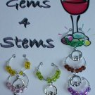 Set of 6 St Patrick's Wine Glass Charm claddagh Marker