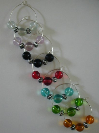 Set of 7 Beaded Wine Glass Charms Wine Glass Markers