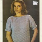 Algane Knitting Pattern Sweety 200 Model 8310 Basket Weave Sweater Pattern