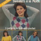 American School Of Needlework Knitting & Crochet Pattern #6001