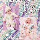 American School Of Needlework Rainbow Wear For Baby Crochet Pattern Book #1349
