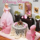 Annie's Attic 1992 Pattern #526B Romantic Dining Room Volume 2 Fashion Doll Decor