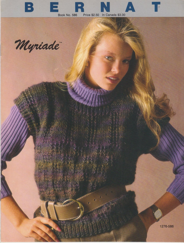 Bernat Handicrafter no.856 Myriade 1986 Knitting Pattern Book