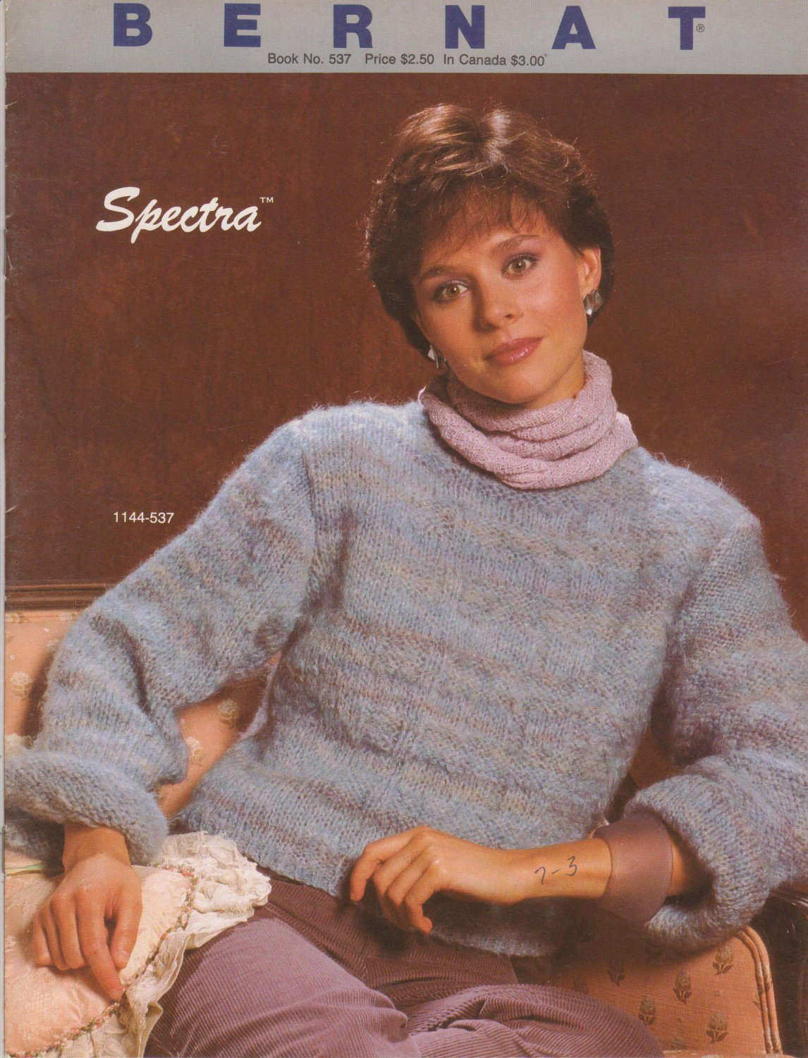 Bernat 1984 Knitting Pattern No. 537 Spectra - knit sweater patterns