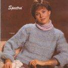 Bernat 1984 Knitting Pattern No. 537 Spectra - knit sweater patterns