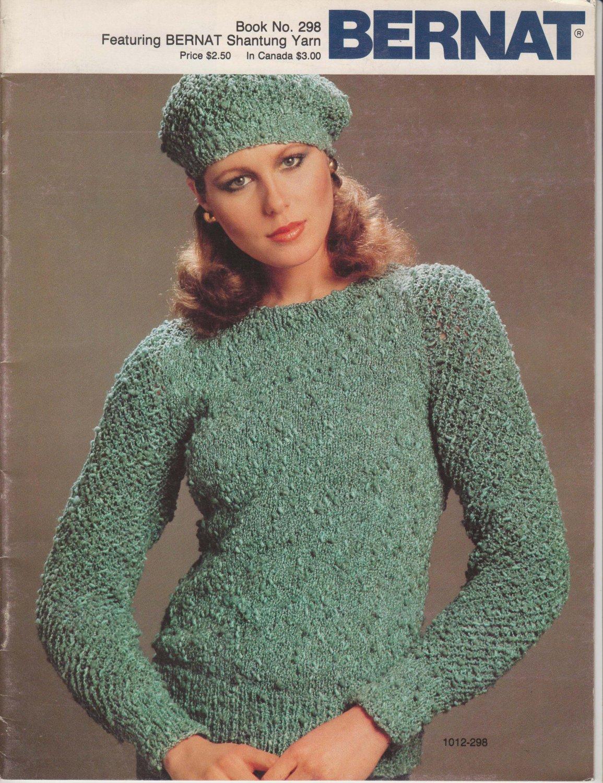 Bernat 1982 Handicrafter No.298 Knitting Pattern Booklet - sweater patterns