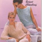 Bernat Chambray 1984 Knitting Pattern Handicrafter Book No.548