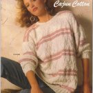 Bernat Vintage 1986 Handicrafter Knitting Pattern Book #595 Cajun Cotton