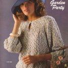 Bernat 1986 Knitting Pattern Handicrafter No.598 Garden Party