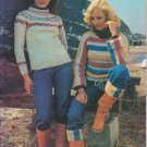 Bernat 1977 Knit and Crochet Pattern Handicrafter No.232 Danish Petite