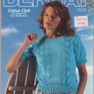 Bernat 1987 Pattern Book #592 Cotton Club Nine Designs for Sport Weight Yarns